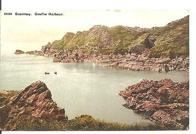 Lovely Early Vintage Postcard,gouffre Harbour,guernsey,near Jersey