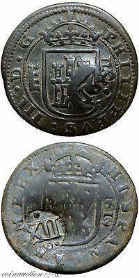 Spain Colonial Pirates Coin From Philip 3 To Philip Iv Counter Mark 12 Maravedi