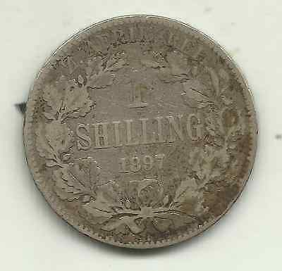South Africa, 1 shilling, 1897 (KM 5) - 92.5% silver