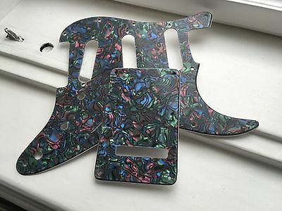 """Stratocaster Pickguard """"bunt shell""""  3ply incl. Backplate"""