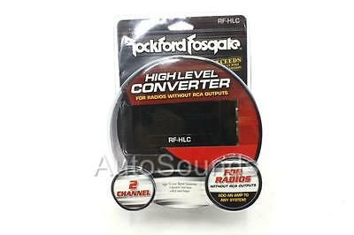 New Rockford Fosgate RF-HLC Compact High to Low Level HI LO Signal Converter