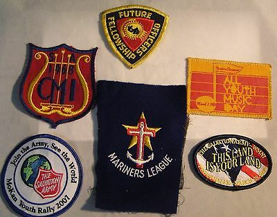 Salvation Army - - LIQUIDATING LEFT OVER   PATCHES - VARIETY OF 6 OFFERED