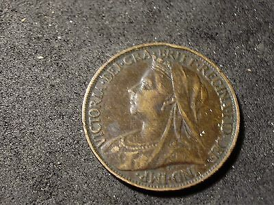 1897 Great Britain farthing coin - -sh Canada is 1.50