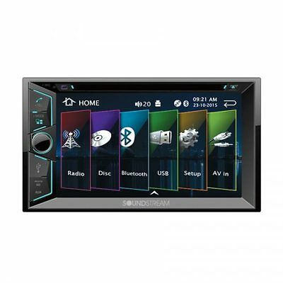 "NEW Soundstream Double 2 Din VR-624B DVD/CD/MP3 Player 6.2"" LCD Bluetooth USB SD"