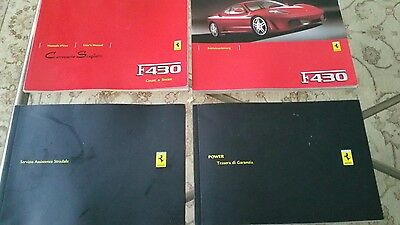 Ferrari F430 Owners Book Collection