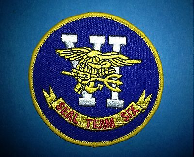 US United States Navy Seals Seal Team Six Iron On Jacket Hat Hoodie Patch Crest