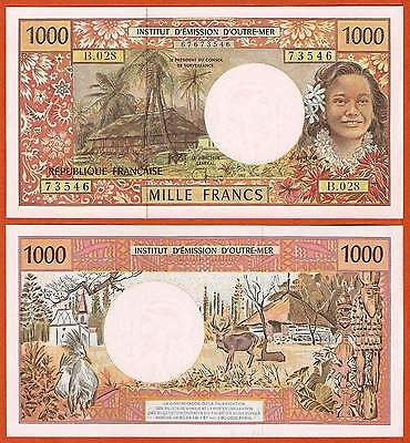 P2g  French Pacific Territories 1000 Francs  1996 Sign 8   UNC