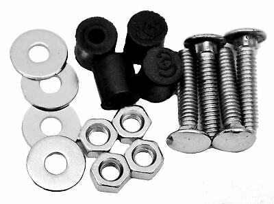 Mudflap plate top hardware mounting kit stainless steel bolt on 4 hole rear flap