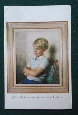 Prince Edward Earl of Wessex Portrait as a Young Boy by Huseph Riddle 1972