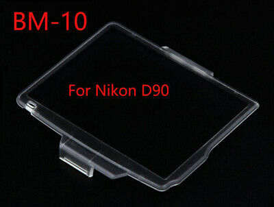 BM-10 Hard Clear Plastic Rear LCD Monitor Screen Cover For Nikon D90 - UK STOCK