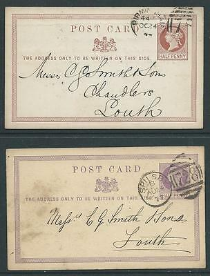 POSTAL STATIONERY 1/2d BROWN & MAUVE POST CARDS VERY FINE & CLEAN
