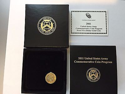 2011 US Mint U.S. Army Gold Comm Coin PROOF