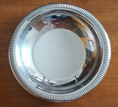 Lovely Retro Silver Coloured Stainless Steel Jean Couzon Plate Bowl France Inox