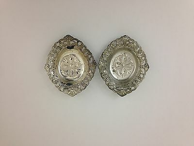 Vintage Silver Ashtrays Made In Occupied Japan