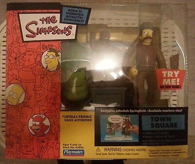 The Simpsons - PlayMates / Wos - Figure Town Square Jebediah Springfield