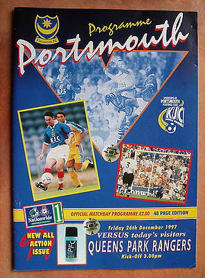 Football, Matchday Programme Portsmouth Football Club.