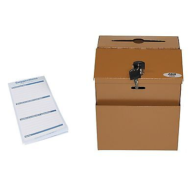 Adir Steel Suggestion Box with Lock- Donation Box - Collection Box - Charity ...