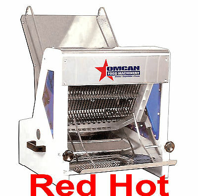 Omcan 10247 Commercial Heavy Duty Automatic Electric Bread Slicer 1/2""