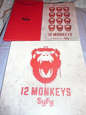 12 Monkeys Syfy Tv Show Promo Press Kit Dvd Lot ~ Aaron Stanford Amanda Schull