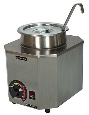 New Paragon Nacho Cheese Warmer Dispenser With 1 Oz  Ladle Free Shipping 2028A