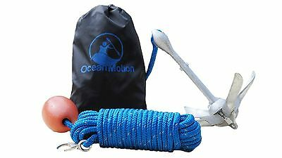 Premium Anchor with Rope Buoy and Bag for KayaksCanoes Personal Watercraft an...