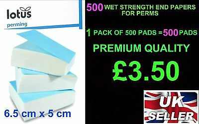 500  lotus WET STRENGTH END PAPERS FOR PERMS Hair Salon Supply Perm sheets