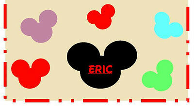 Disney inspired  Personalized Checkbook Cover