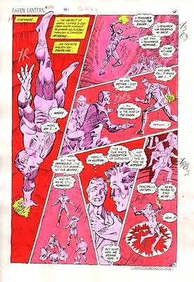 Original 1980's Green Lantern 176 DC Comic color guide art page 4: Dave Gibbons