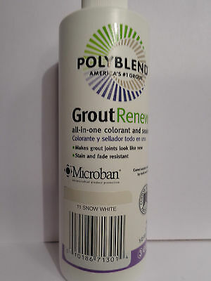 Polyblend Grout Renew All-in-One Colorant & Sealer 8oz Snow White #11