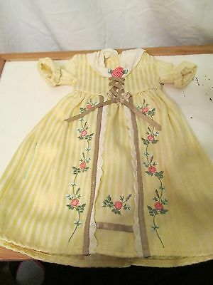 American Girl Doll Felicity's Tea Lesson Gown Yellow Floral Dress Retired