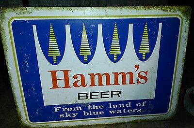 Hamm's Beer Sign From The Lands Sky Blue Waters Bar Man Cave...