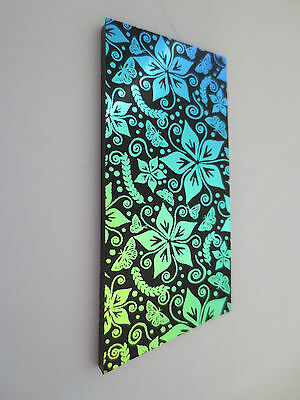 Dichroic Glass COE 90 - Flowers and Tiny Butterflies Design