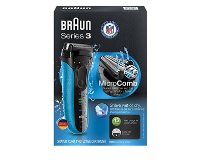 Braun Series 3 Wet Dry Rechargeable Electric Cordless Shaver Men Razor Trimmer