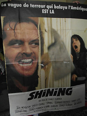 Huge Original French 'the Shining'. Film/ Movie Poster, 1980.