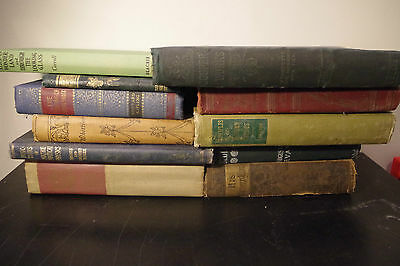 Lot of 10 Random Antique Books (HC Pre 1955) Collectable & Hard to Find Vintage