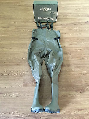 Snowbee Nylon Chest Fishing Waders Size 7 / 41 Cleated Sole