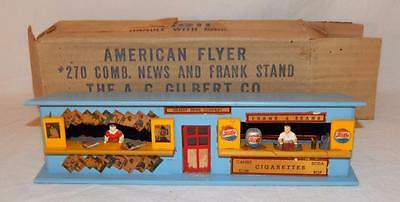 Clean BOXED American Flyer 270 Combo News & Frank Stand Minicraft wooden 1952-53