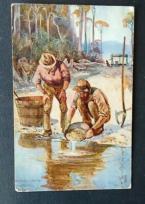 Prospecting For Gold, A. H. Fullwood Postcard.