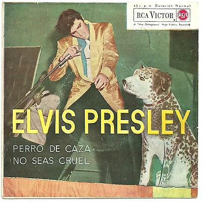 Elvis Presley - Hound dog/Don't be cruel PS from Spain.