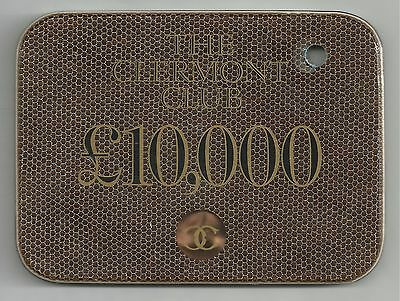 RARE £10,000 plaque from the Clermont Club Casino in London.