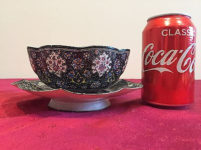 Antique Chinese Enamel Bowl And Plate