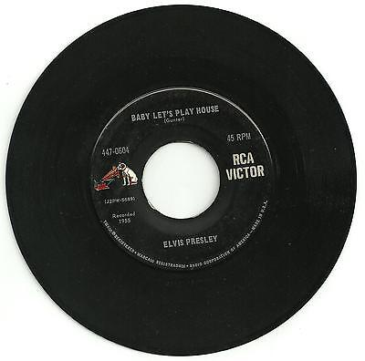 Elvis Presley - Baby let's play house GOLD STANDARD RCA single from the USA.