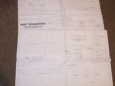 """Model Boat Plan - """"HMS Tanganyika""""  A stand off scale Colony Class Cruiser"""
