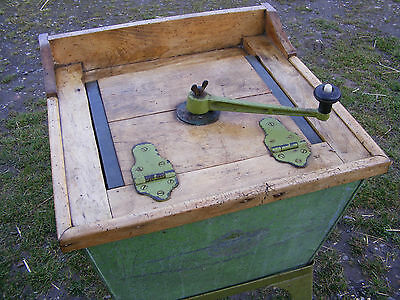 Antique Paddle  Washing Machine Pine On A Metal Stand Rare