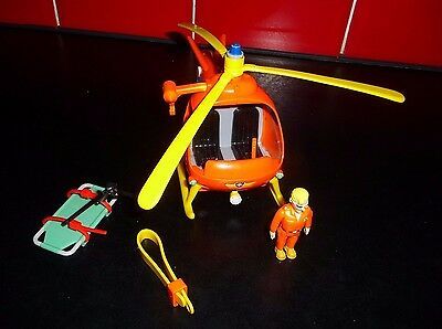 Fireman Sam Helicopter With Tom Figure Take A L@@k