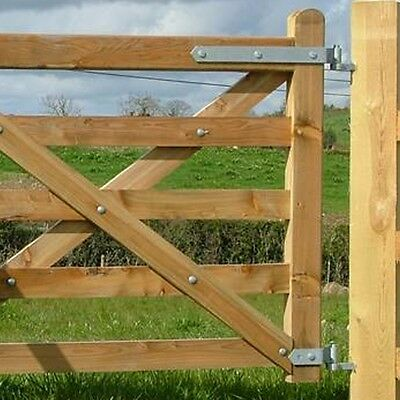 HEAVY DUTY PART / FULLY ADJUSTABLE FIELD GATE HINGES Galvanised Fence Farm