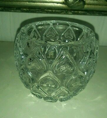 6 medium sized decorative glass tea light  holders - table wedding decor