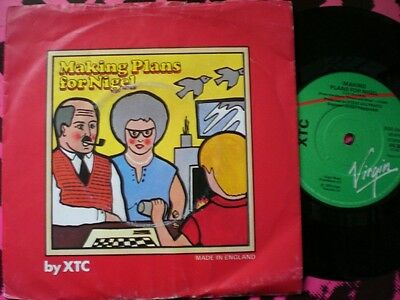 Punk - Xtc - Making Plans For Nigel - Picture Cover