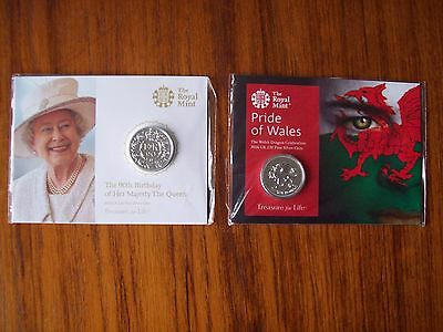 Royal Mint: UK 2016 Two Different Fine Silver £20 Sealed Coin Pack