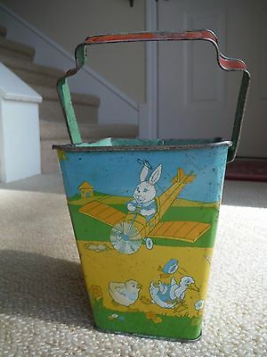 Vintage Tin Litho Sand Pail - Early Chein - Nice Condition